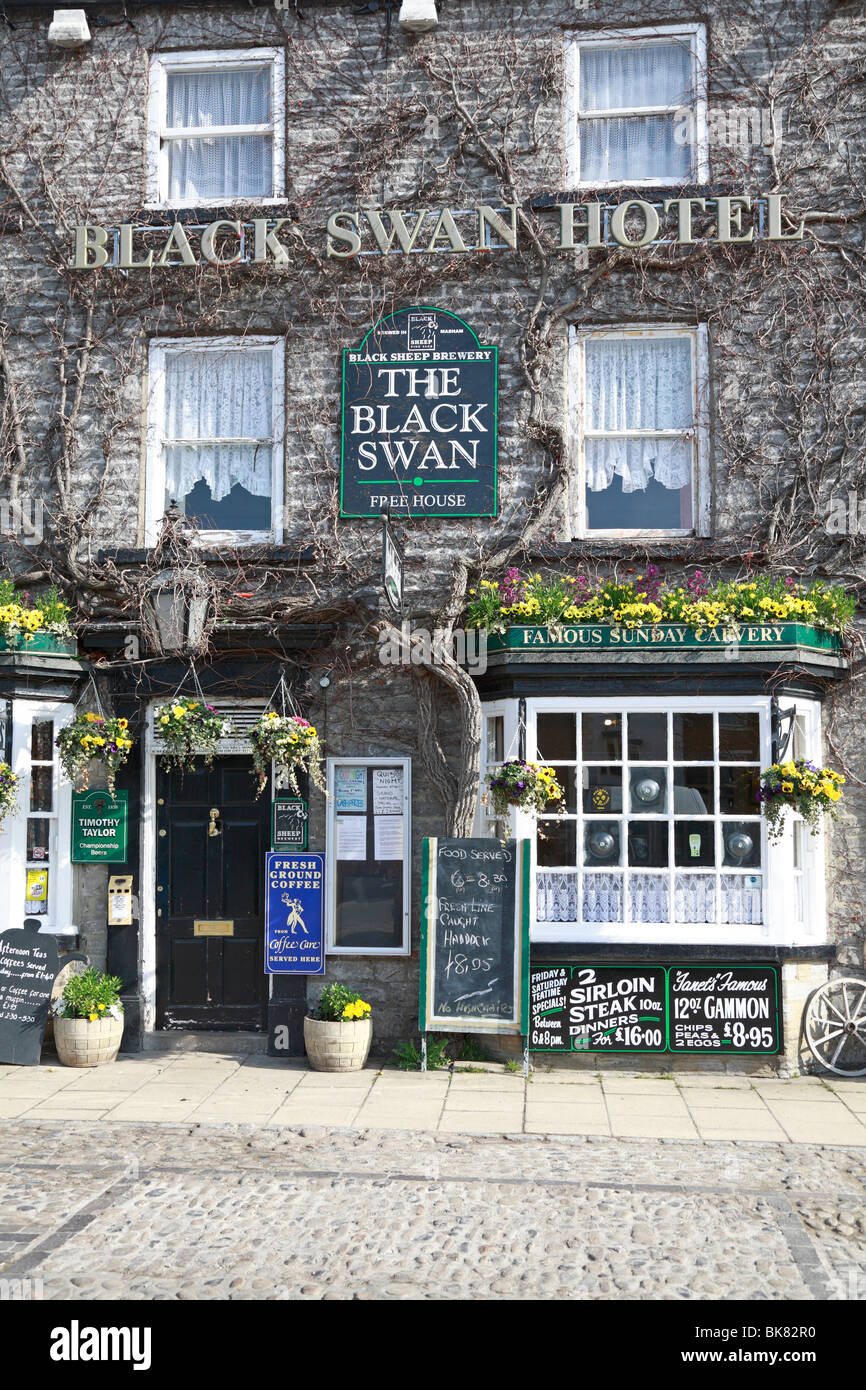 Black Swan Hotel, Leyburn, North Yorkshire, England, UK. - Stock Image