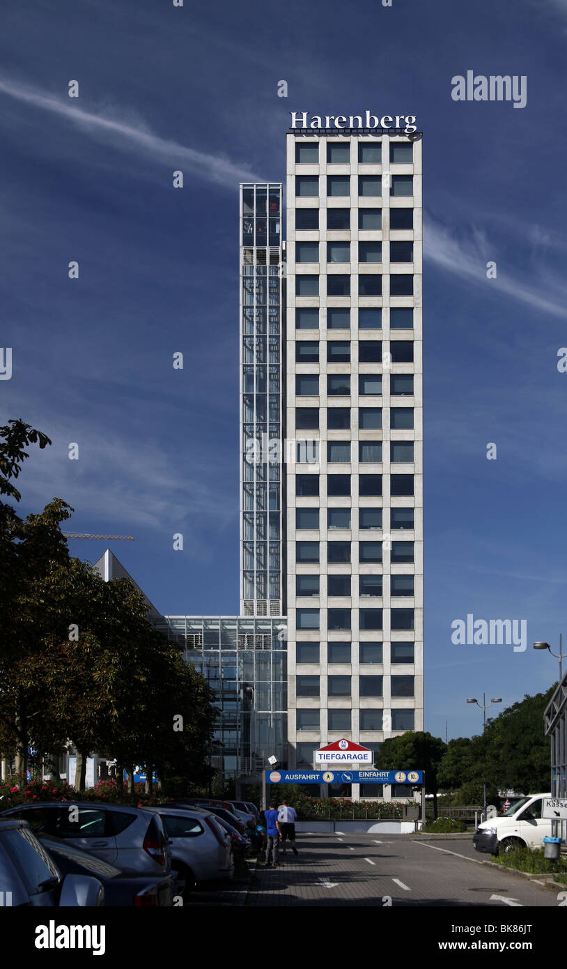 Harenberg City-Center, office high-rise building and convention center, Dortmund, North Rhine-Westphalia, Germany, - Stock Image