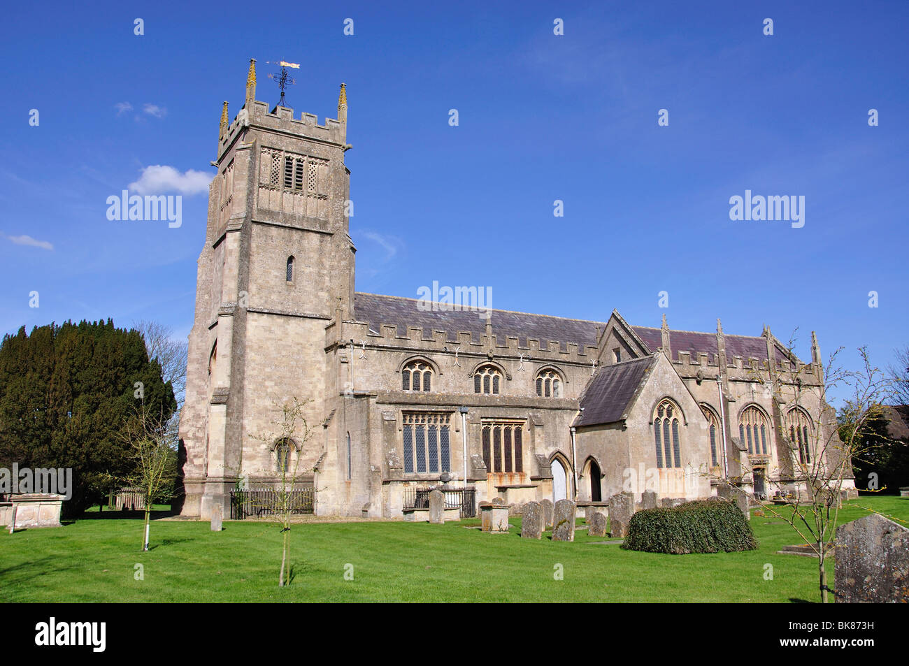 The Parish Church of St.Michael and All Angels, Melksham, Wiltshire, England, United Kingdom Stock Photo