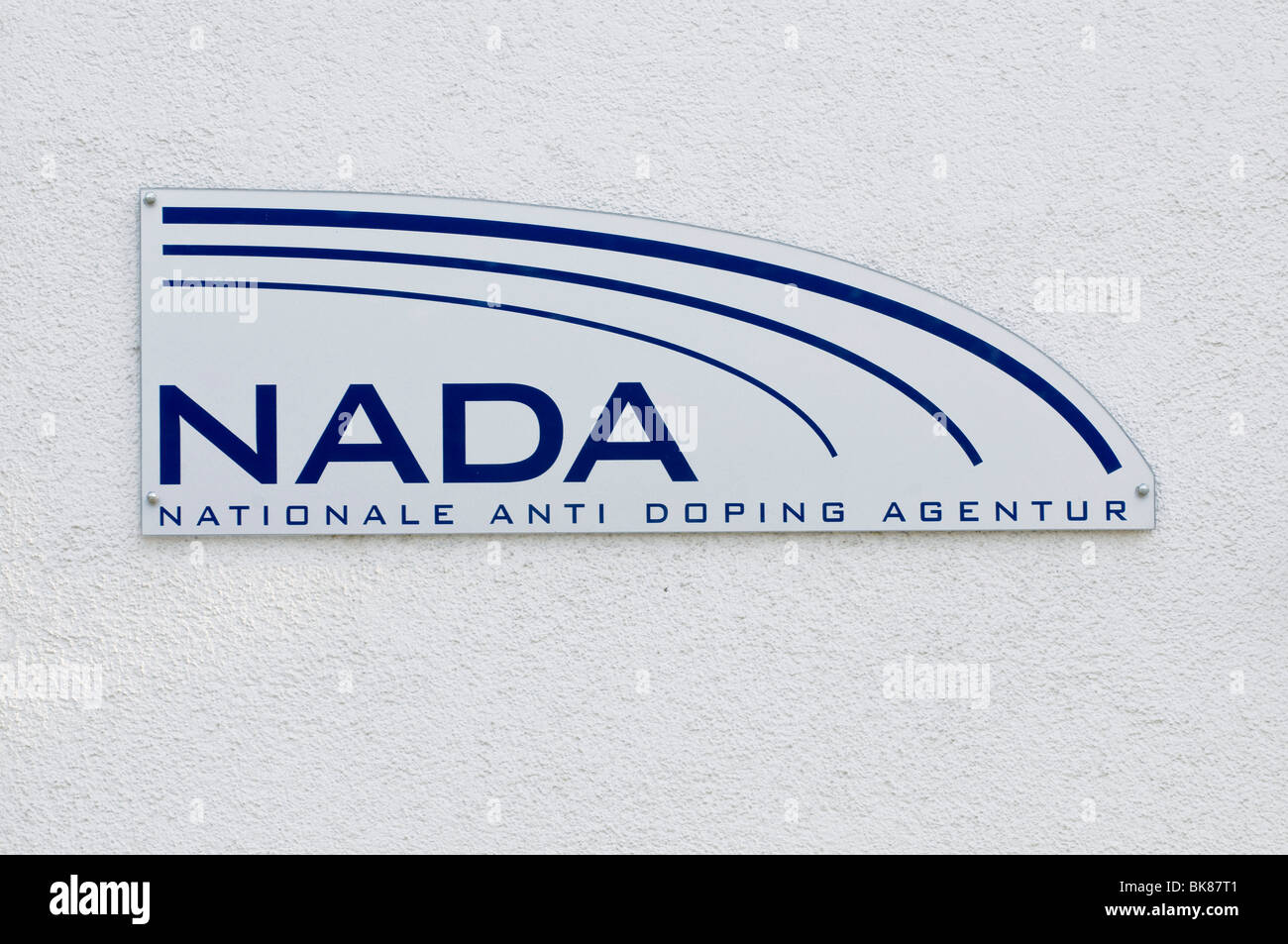 Logo of NADA, the National Anti-Doping Agency Germany - Stock Image