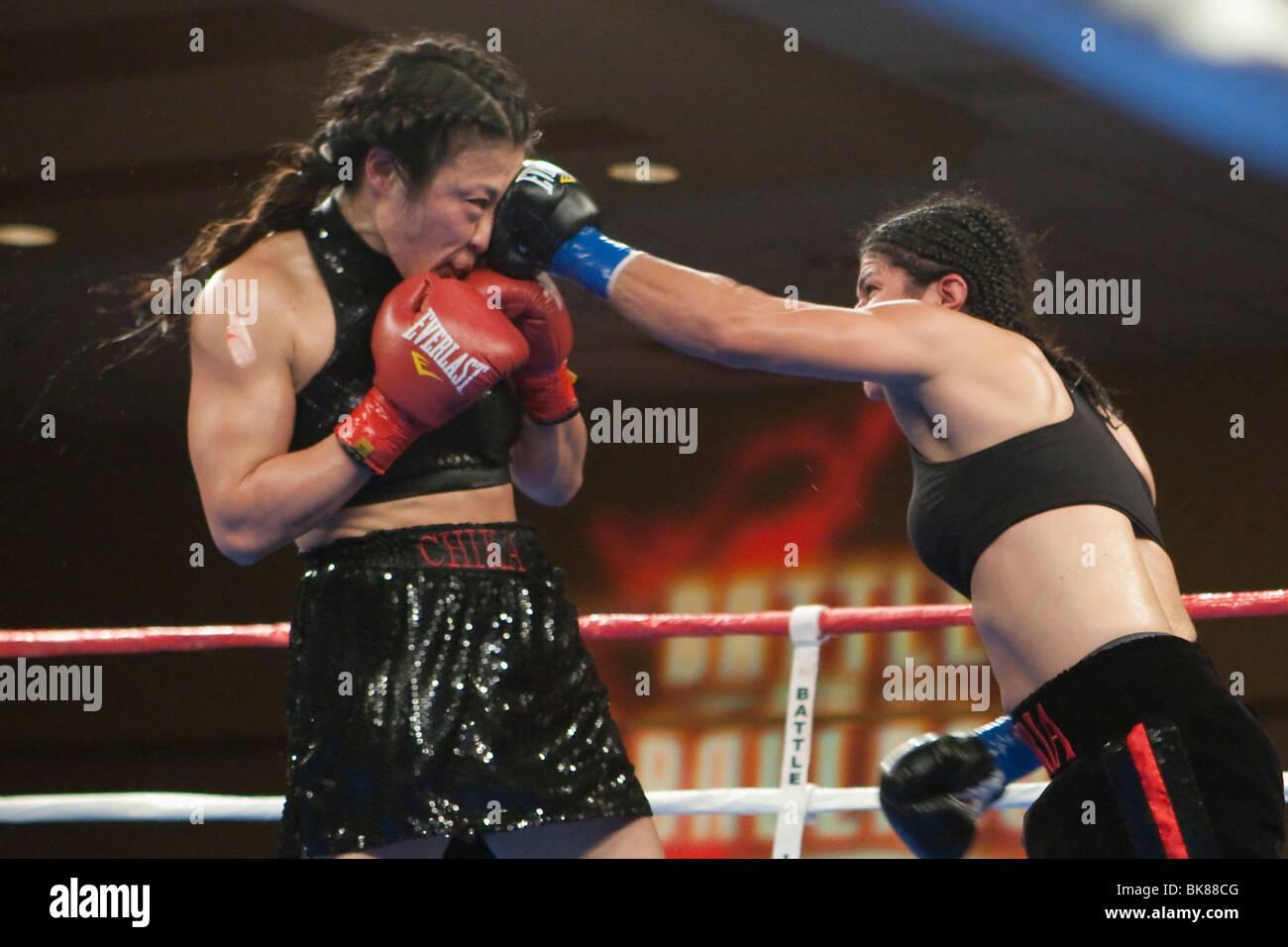 Gloria Ramirez vs Chika Nakamura - Stock Image