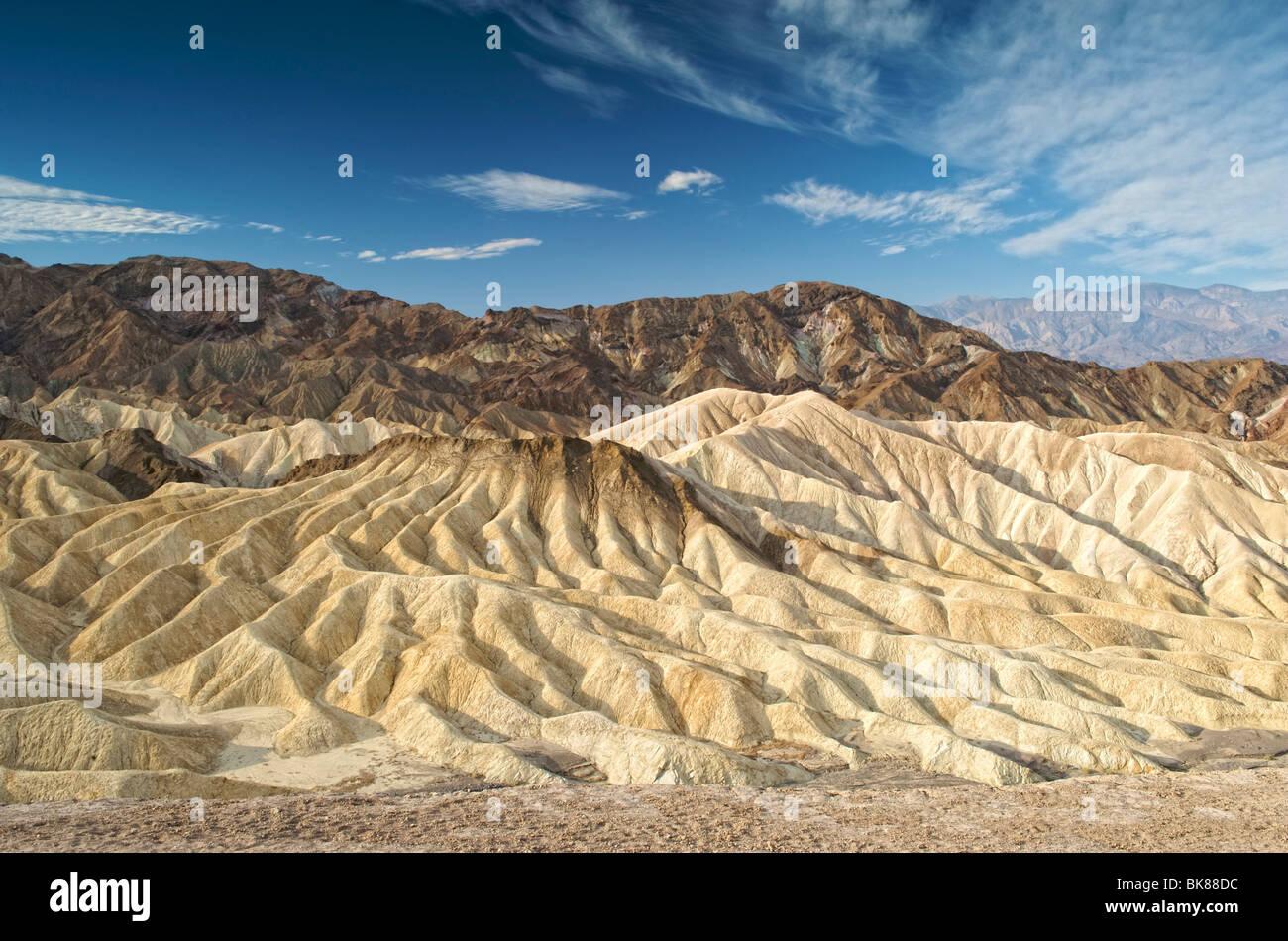 Zabriskie Point, Death Valley National Park, California, USA - Stock Image