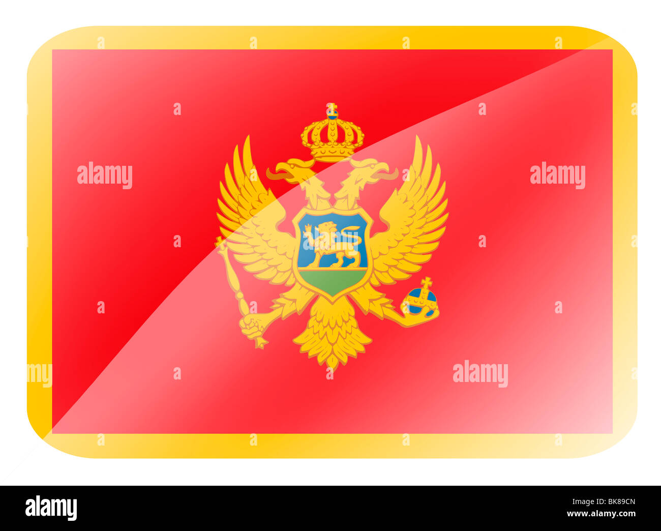 Montenegro flag Stock Photo