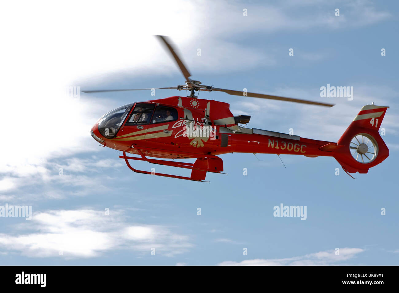 Helicopter from Grand Canyon Airlines, Grand Canyon, Arizona, USA - Stock Image