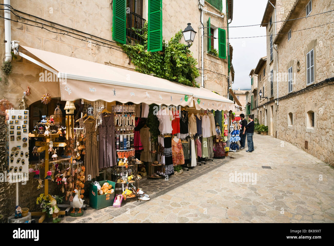 Shop in Valldemossa, Tramuntana Mountains, Mediterranean Sea, Mallorca, Majorca, Balearic Islands, Spain, Europe Stock Photo