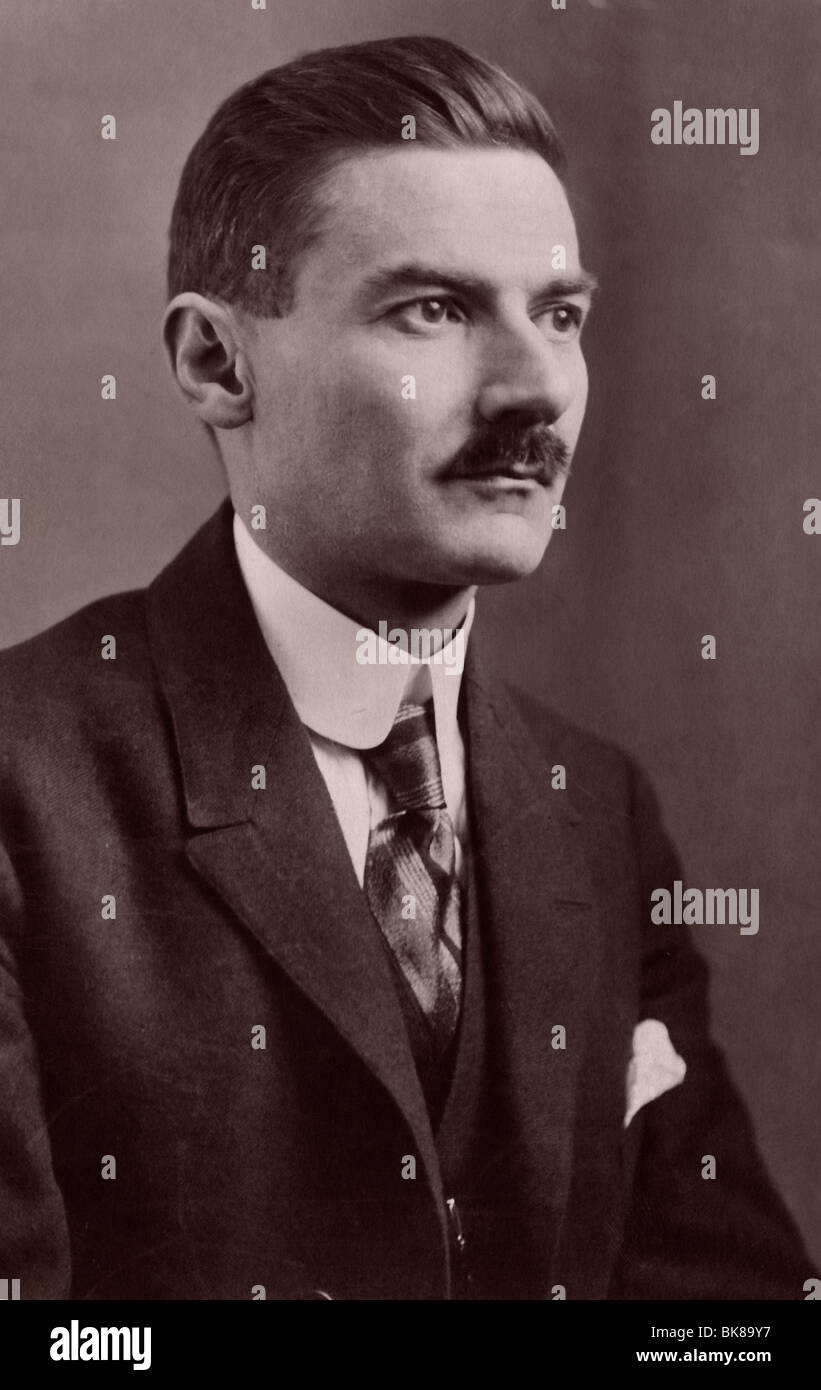 Portrait of a man, historic photograph, around 1940 - Stock Image