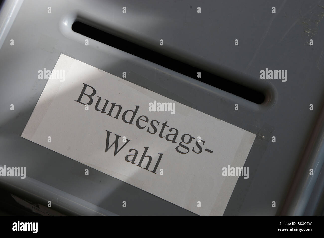Bundestag elections, ballot-box - Stock Image