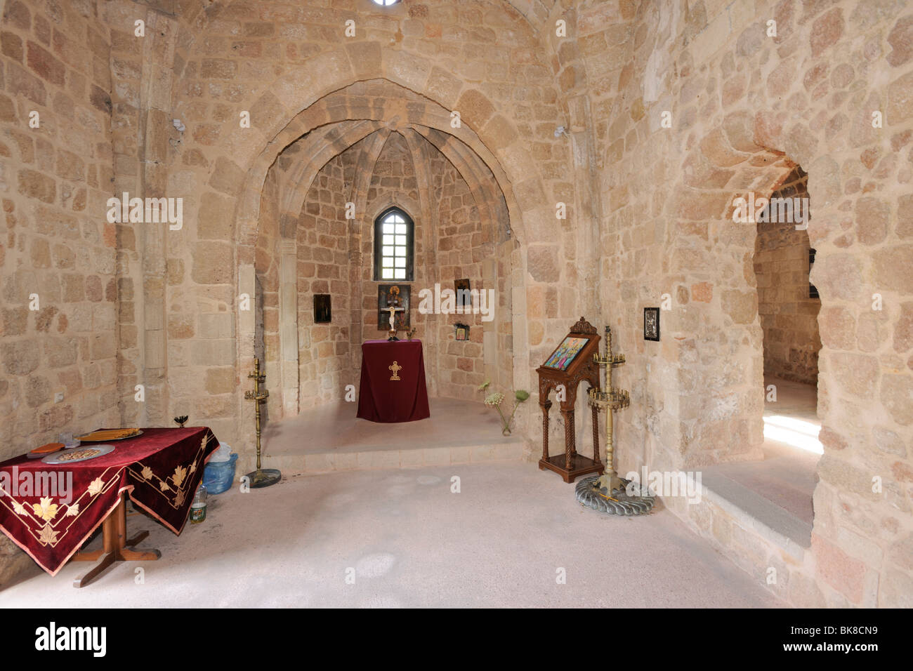 Church of the Holy Apostles, 15th century, Rhodes Town, Rhodes, Greece, Europe - Stock Image
