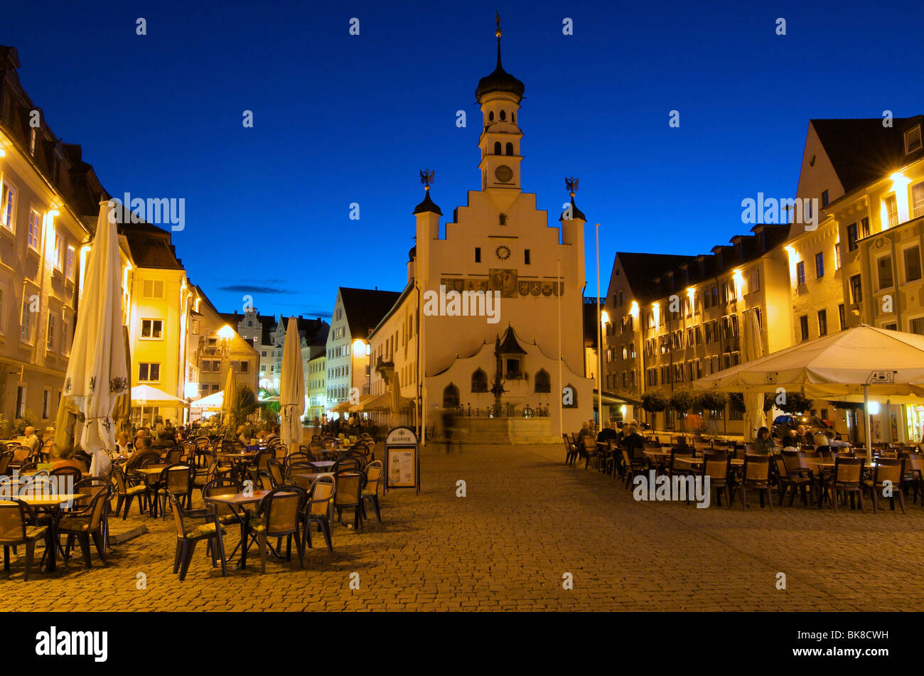 Town Hall square in Kempten, Allgaeu, Bavaria, Germany, Europe Stock Photo
