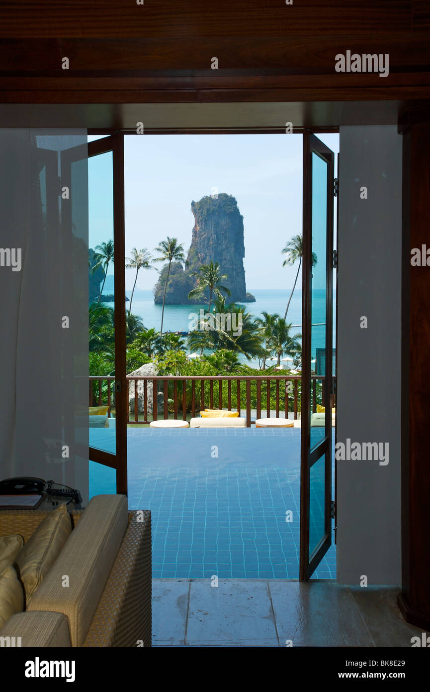 Pool of a a suite at the Centara Resort, Krabi, Thailand, Asia - Stock Image