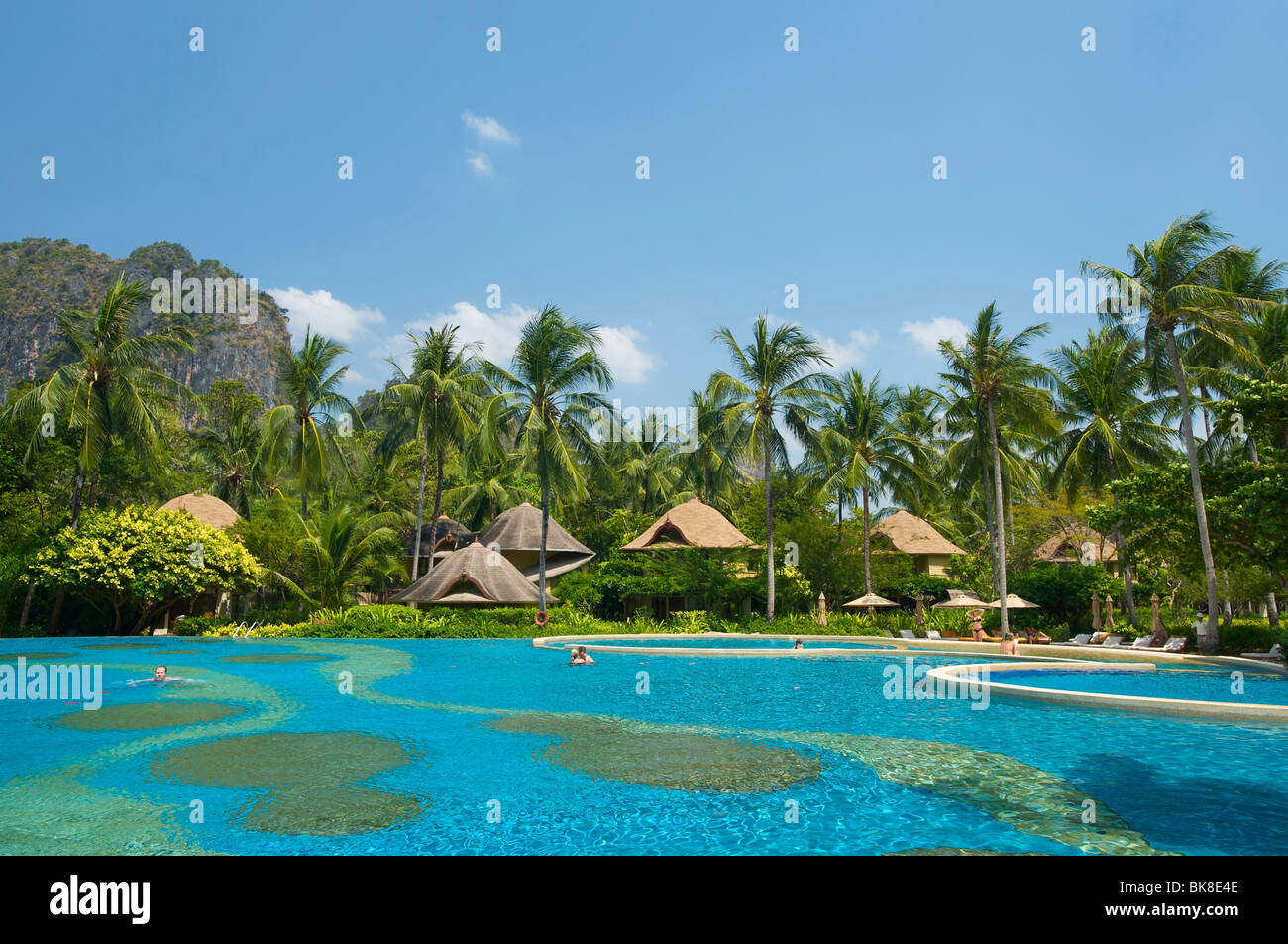 Swimming pool of the Rayavadee Resort, Krabi, Thailand, Asia Stock Photo