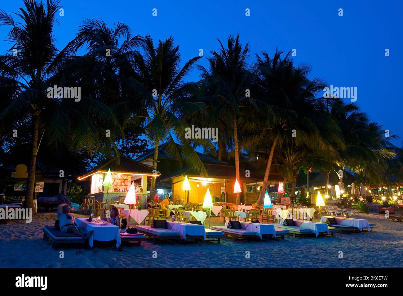 Beach Restaurant On Lamai Beach Ko Samui Island Thailand