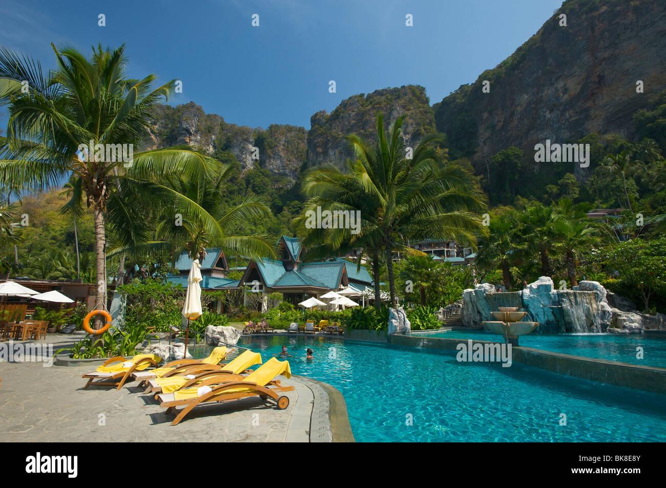 Pool of the Centara Resort, Krabi, Thailand, Asia - Stock Image