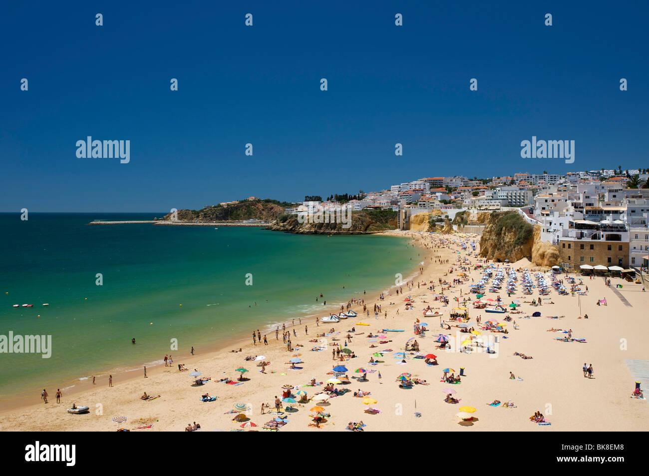 Beach in Albufeira, Algarve, Portugal, Europe - Stock Image