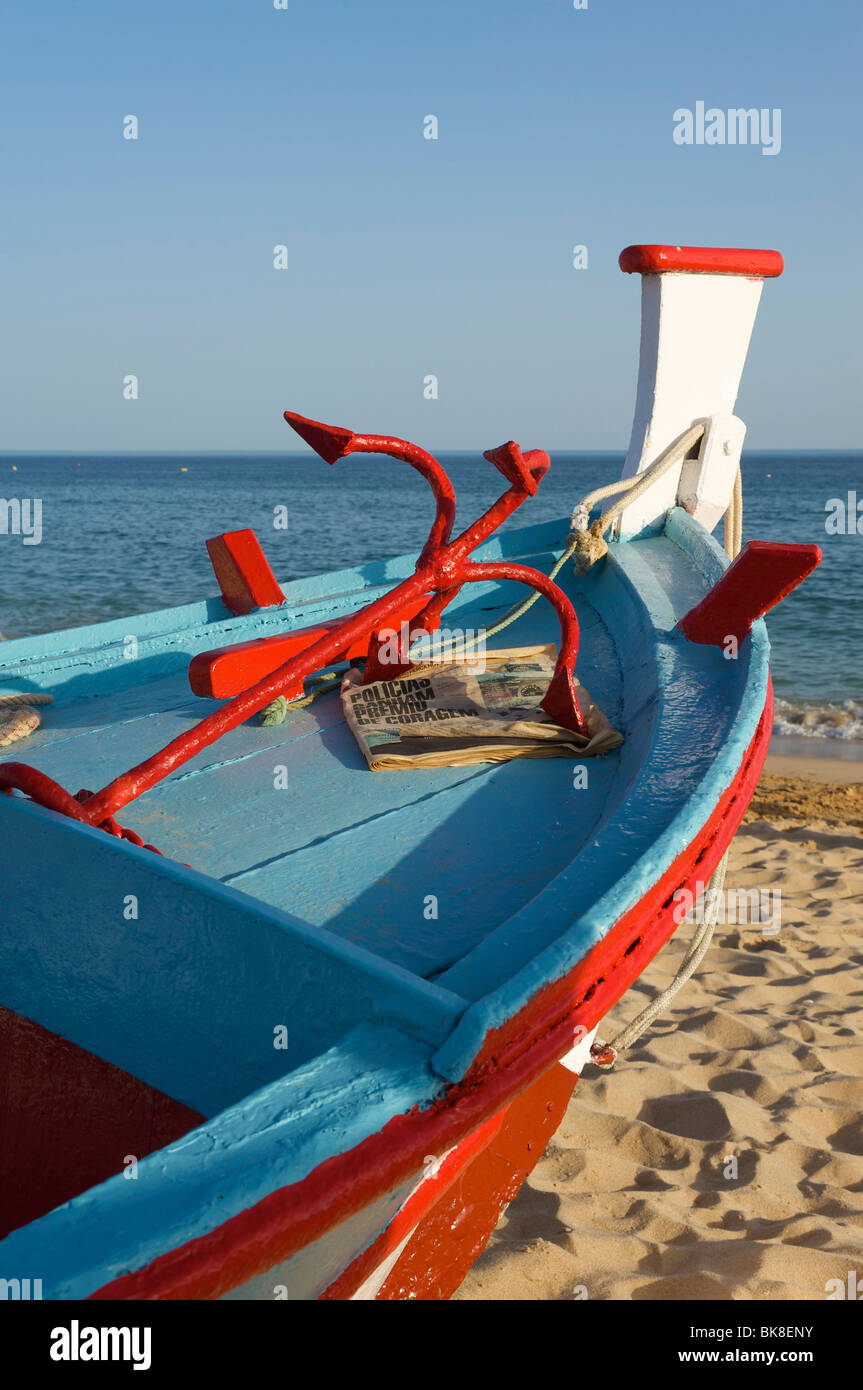 Fishing boat in Armacao de Pera, Algarve, Portugal, Europe - Stock Image