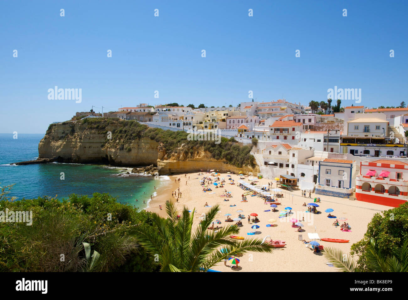 Beach of Carvoeiro, Algarve, Portugal, Europe - Stock Image