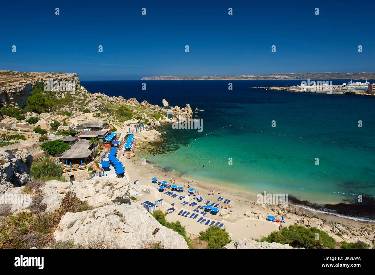 Paradise Bay in Cirkewwa, Malta, Europe - Stock Image