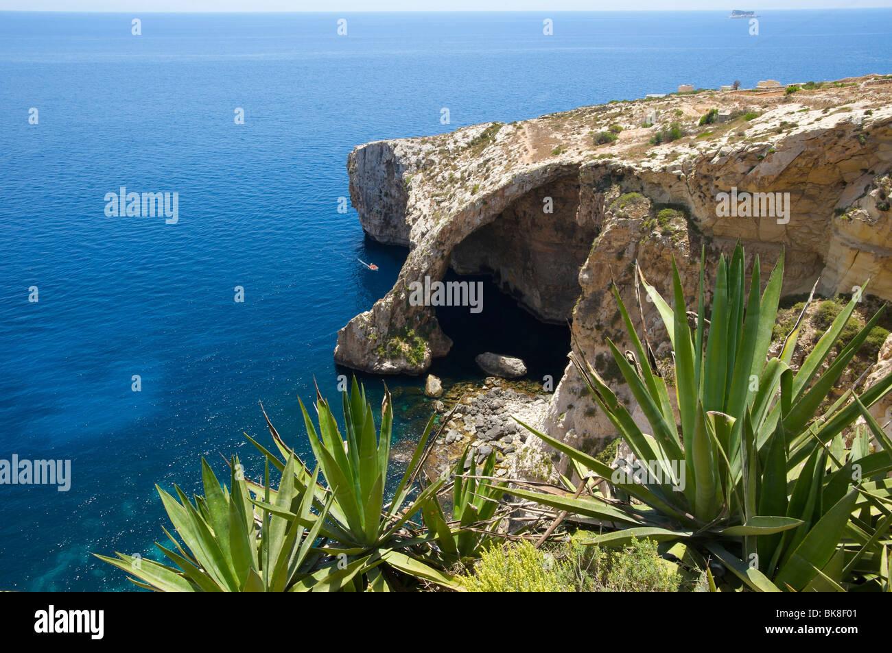 Blue Grotto in Malta, Europe - Stock Image