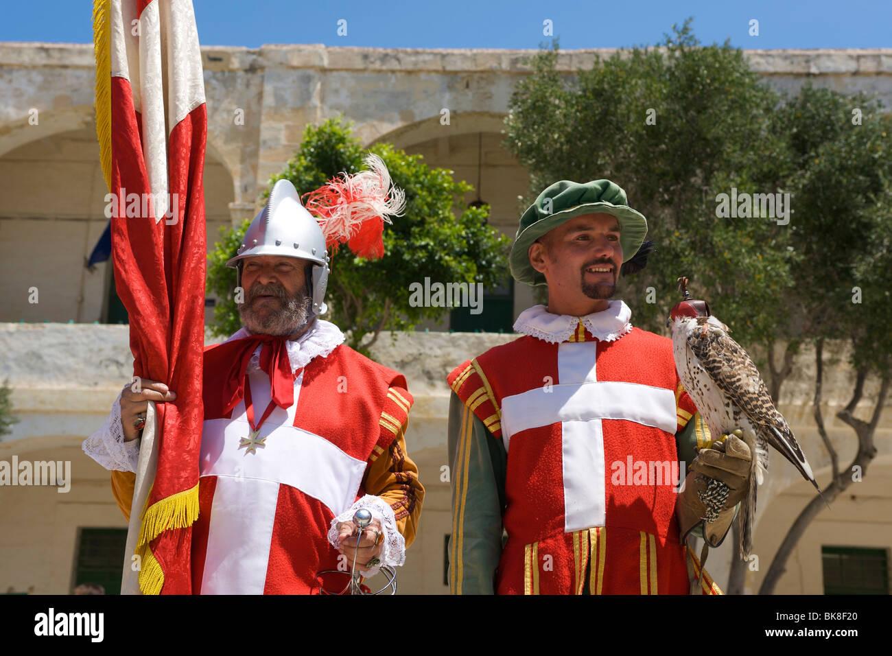 In Guardia Parade at Fort St Elmo, Valletta, Malta, Europe - Stock Image