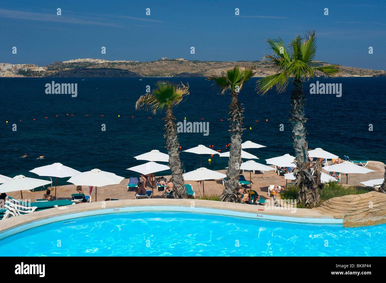 Dolmen Resort in Qawra, Malta, Europe Stock Photo