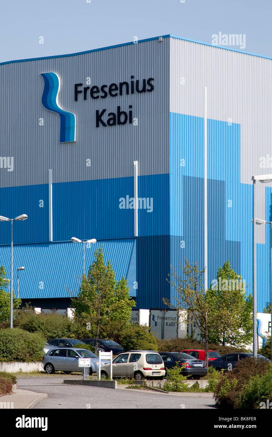 Production site of the Fresenius Kabi Deutschland GmbH company, part of Fresenius SE, in Friedberg, Hesse, Germany, - Stock Image