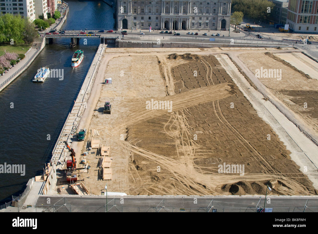 Site of the demolished Palast der Republik, Berlin, Germany, Europe - Stock Image