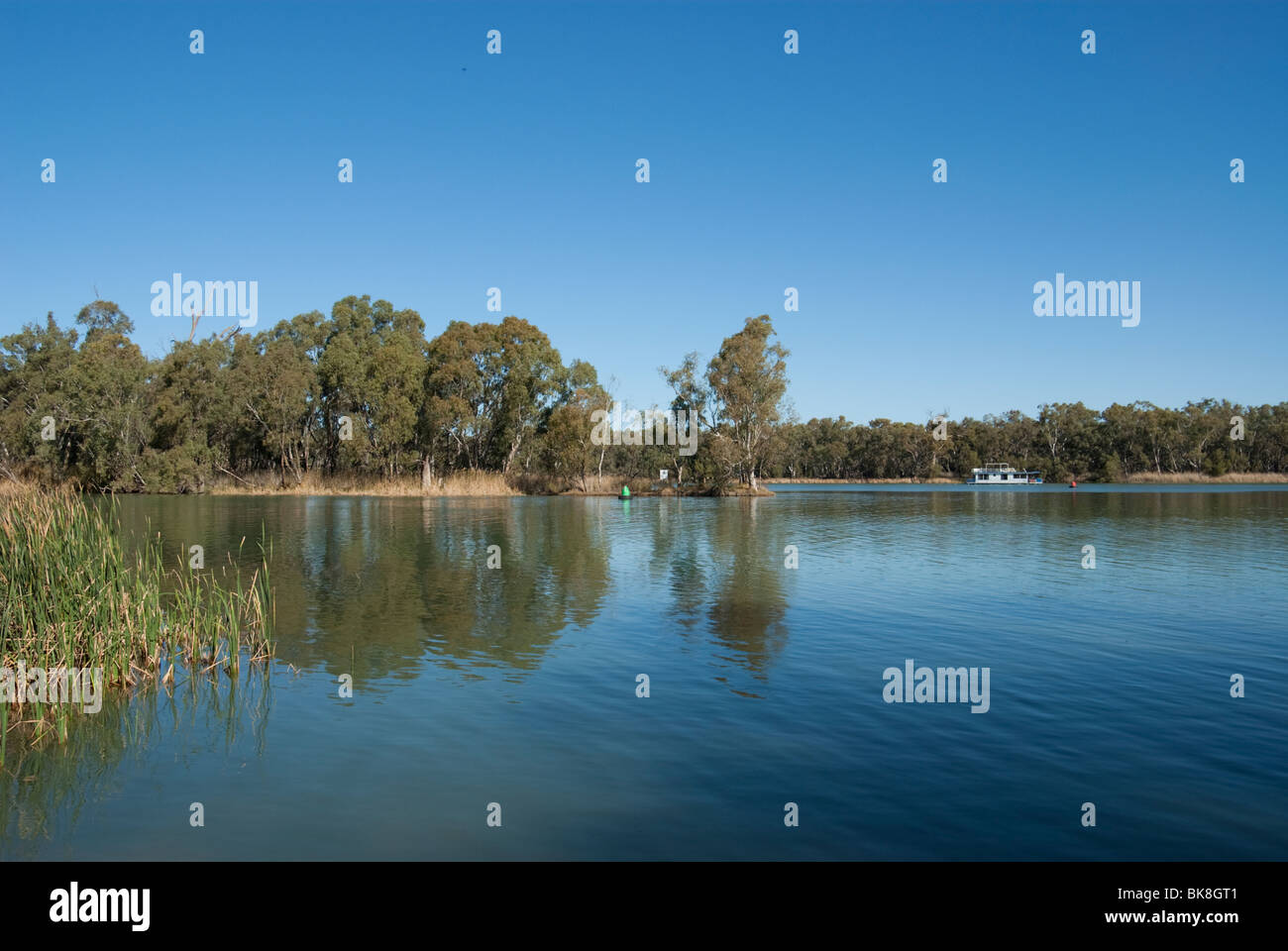 Confluence of Murray and Darling Rivers, Australia - Stock Image