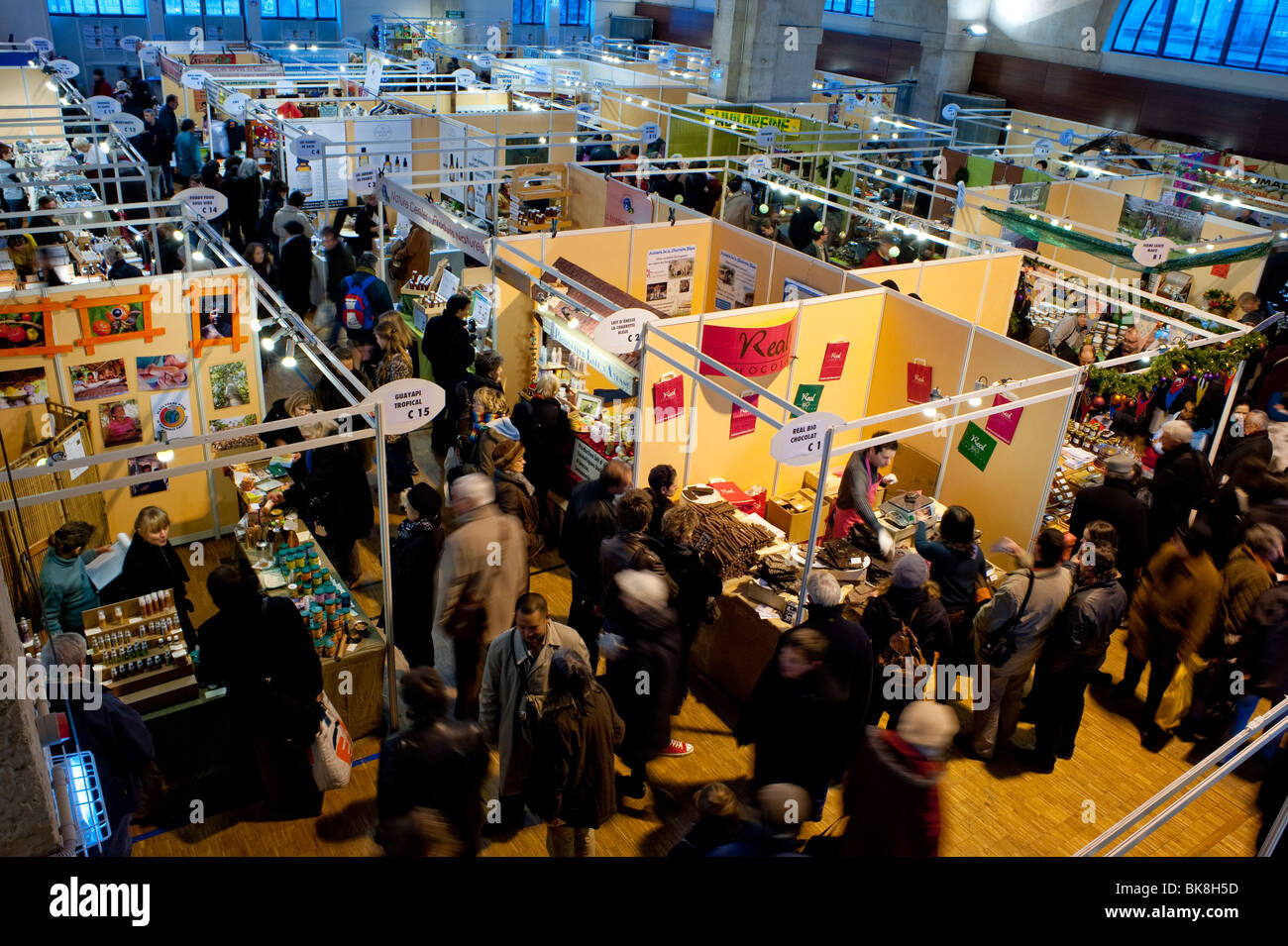 Sustainable Business, Organic Food, Products Trade Show, Paris, France, - Stock Image