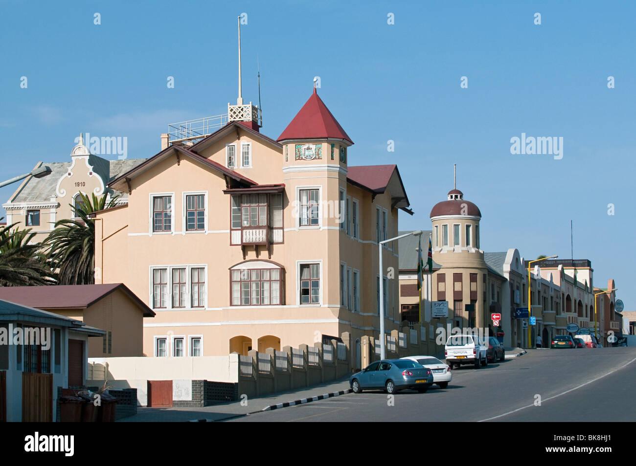 German Colonial Architecture on Sam Nujome Avenue Swakopmund Stock