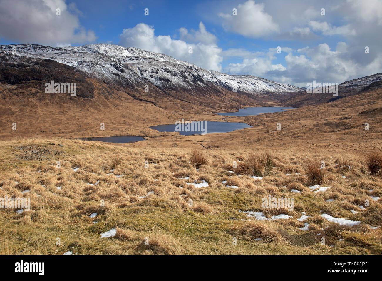 Loch an Eilein, Lochan Ellen, Loch Airdeglais in Glen More, Isle of Mull, Western Isles, Scotland - Stock Image