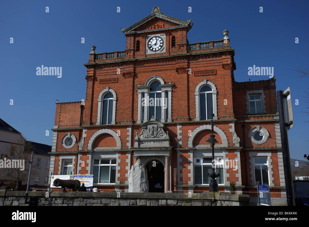 Newry Town Hall designed by William Batt county down northern ireland uk - Stock Image