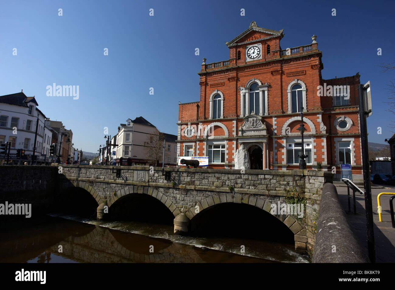 Newry Town Hall designed by William Batt county armagh side northern ireland uk - Stock Image
