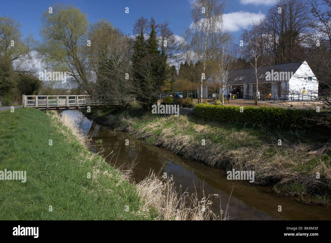 newry canal and scarva visitor centre and tea rooms in village county down northern ireland uk Stock Photo