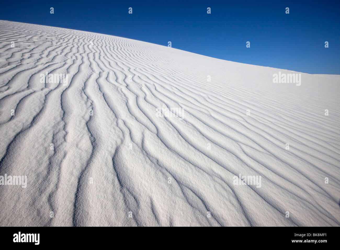Wind Patterns in Sand, White Sands National Monument, New Mexico - Stock Image