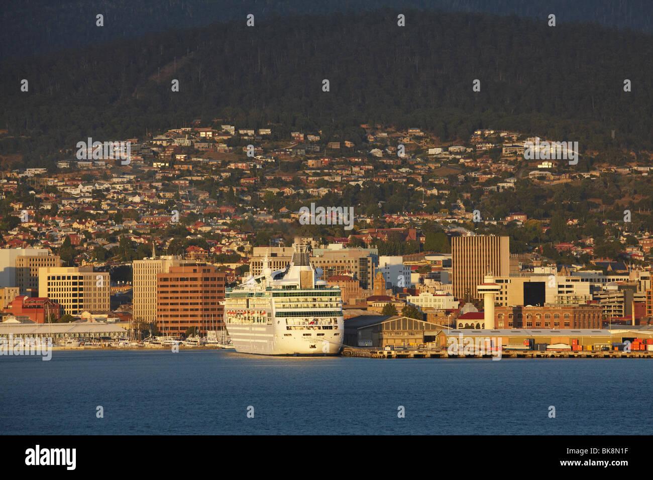 Rhapsody of the Seas Cruise Ship, Sullivans Cove, Hobart, Tasmania, Australia - Stock Image
