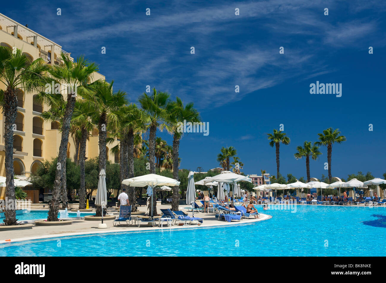 Hilton Hotel in St. Julians, Malta, Europe Stock Photo