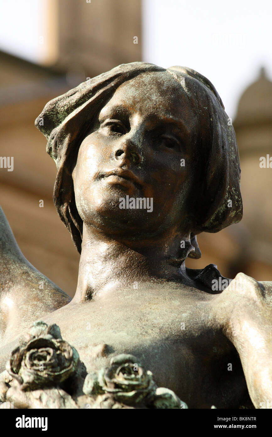 Statues  by celebrated Victorian sculptor Alfred Drury in the art nouveau style bronzes Stock Photo
