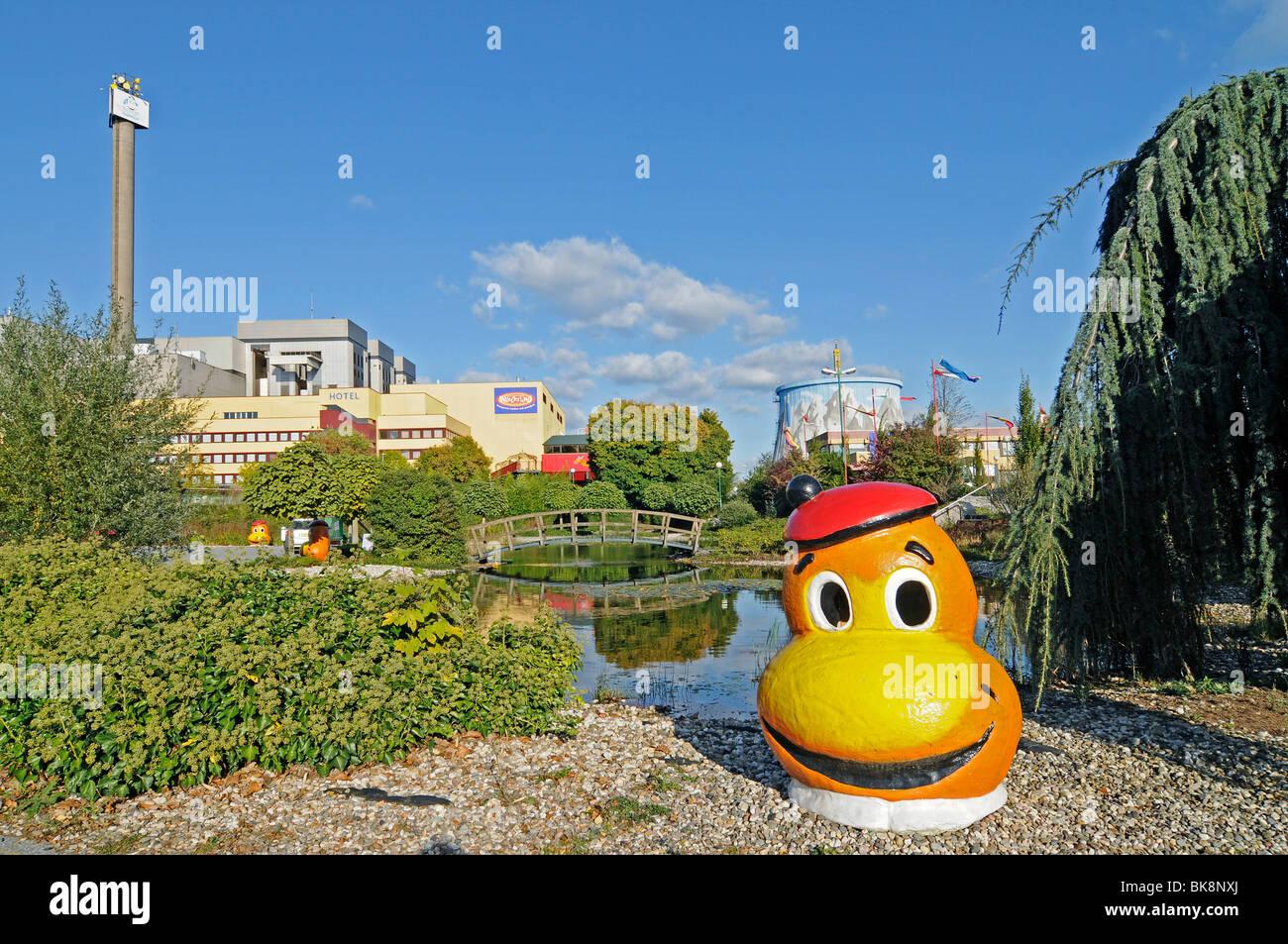 Wunderland Kalkar, amusement park, family park, former fast breeder reactor, nuclear power plant, Kalkar, Lower - Stock Image