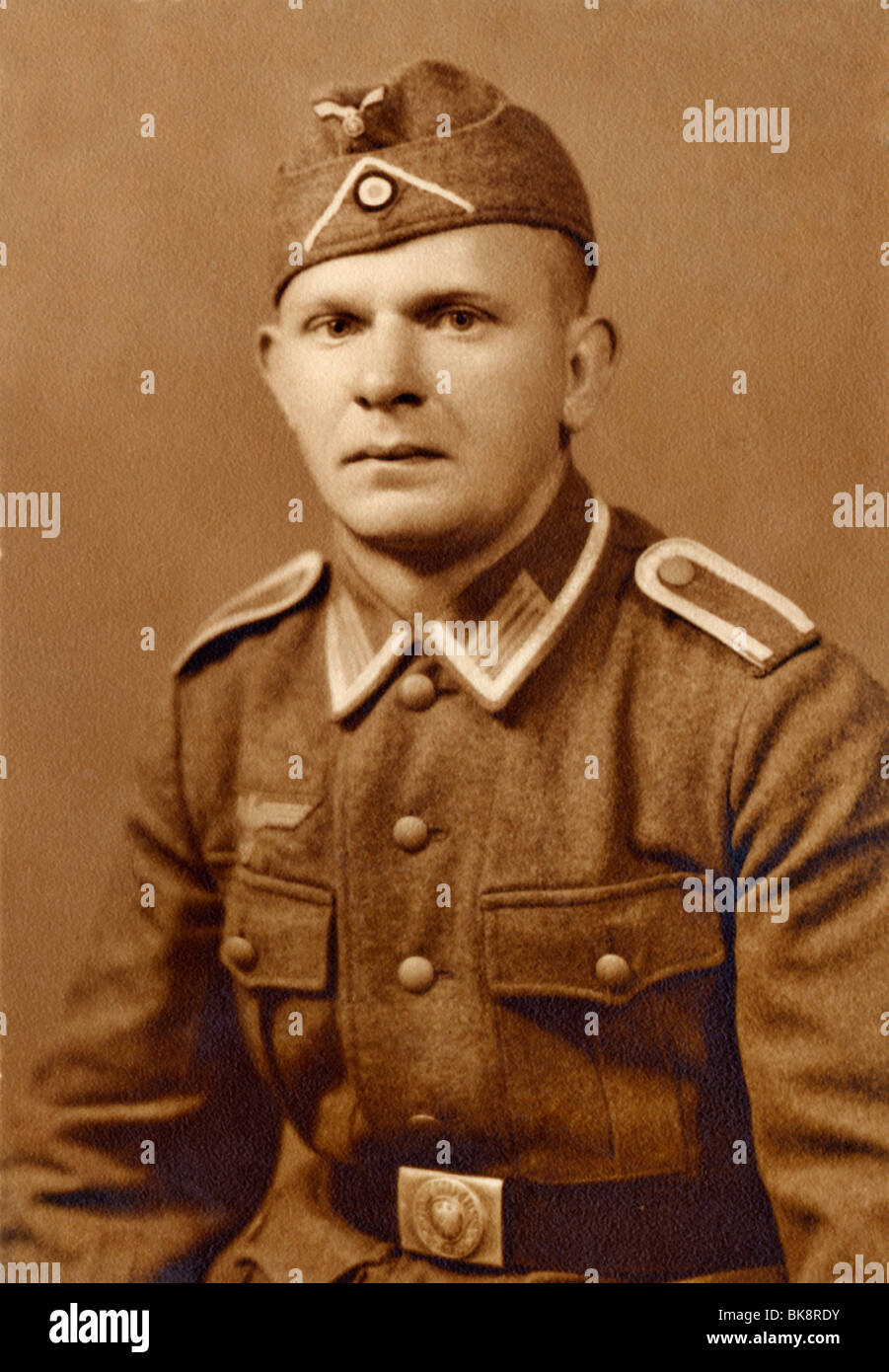 Soldier's portrait, historical photograph, around 1940 - Stock Image