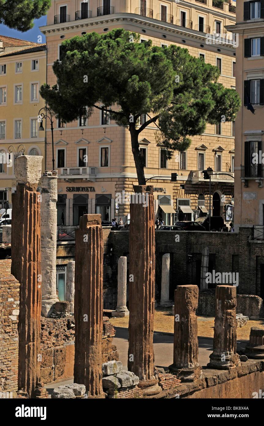 Largo di Torre Argentina, Rome, Latinum, Italy, Europe - Stock Image