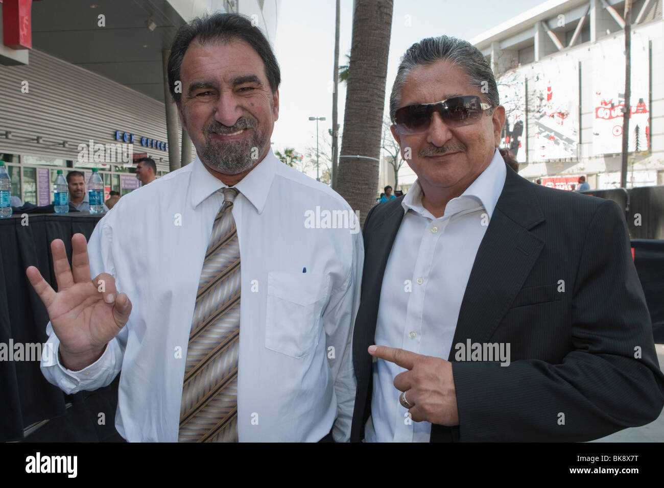 Johnny Beyrooty and Frank Espinoza at the Israel Vazquez vs Rafael Marquez Press Conference 3/13/10 - Stock Image