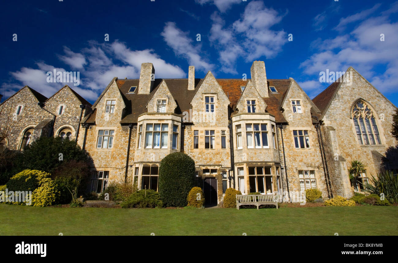 The King's school of Canterbury viewed from the Garden next to the Norman Staircase in Canterbury, Kent, UK. - Stock Image