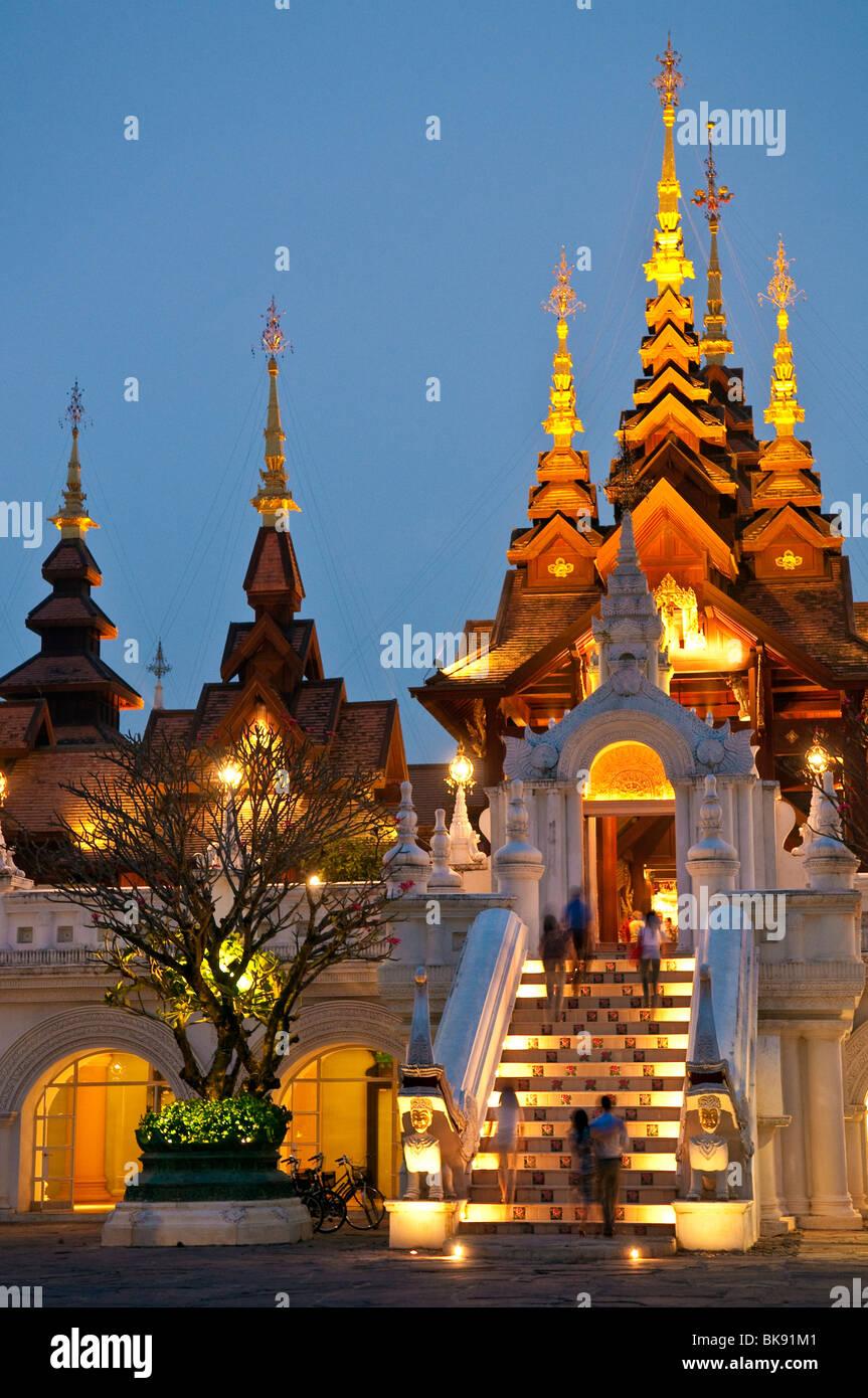 Mandarin Oriental Dhara Dhevi Hotel lobby entrance, Chiang Mai, Thailand. - Stock Image