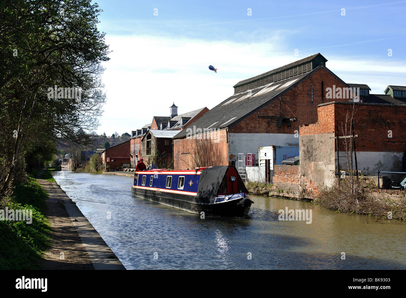 The Oxford Canal at Banbury, Oxfordshire, England, UK - Stock Image