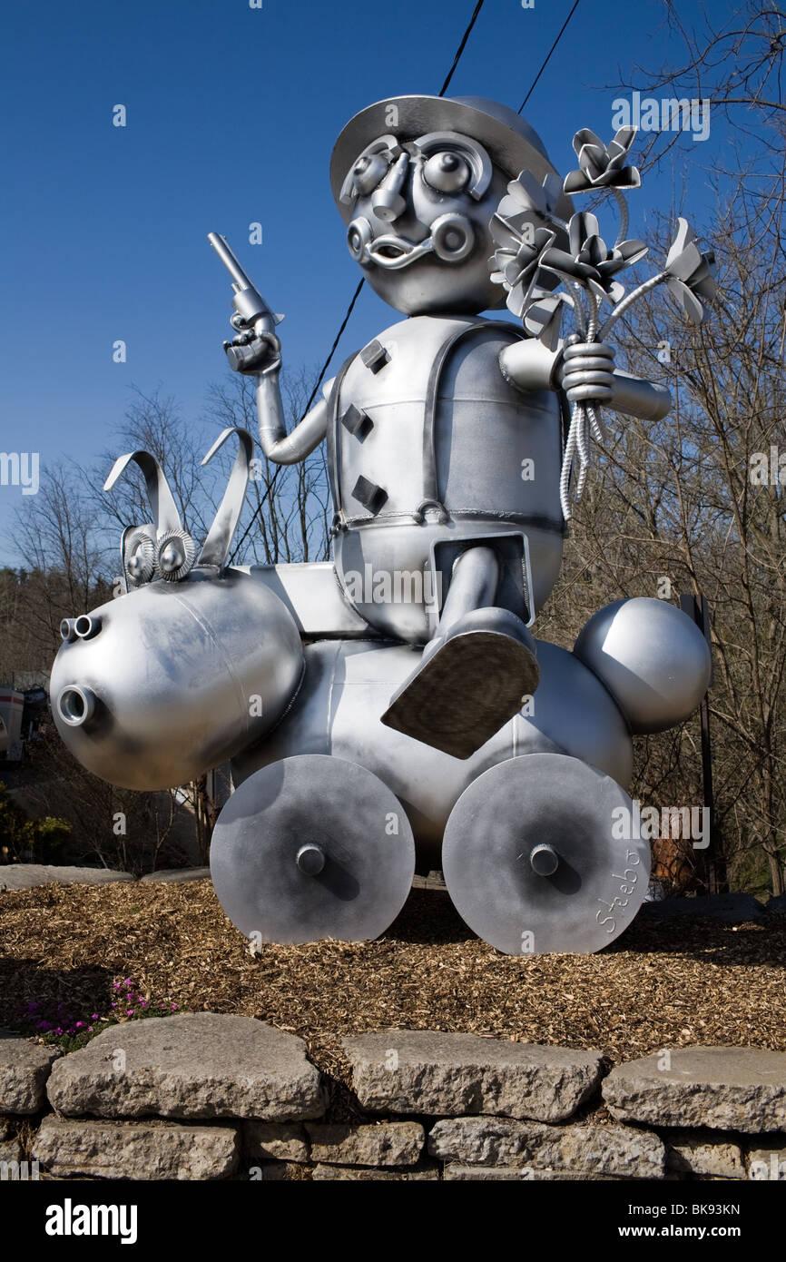Roadside sculpture in Asheville, North Carolina - Stock Image