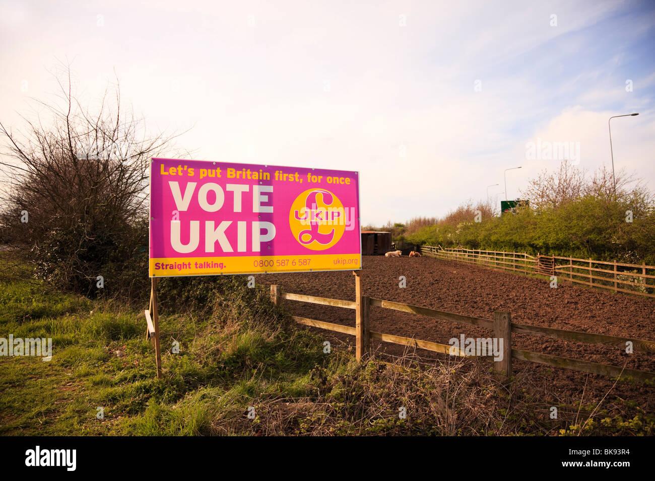 UK Independance Party election billboard. - Stock Image