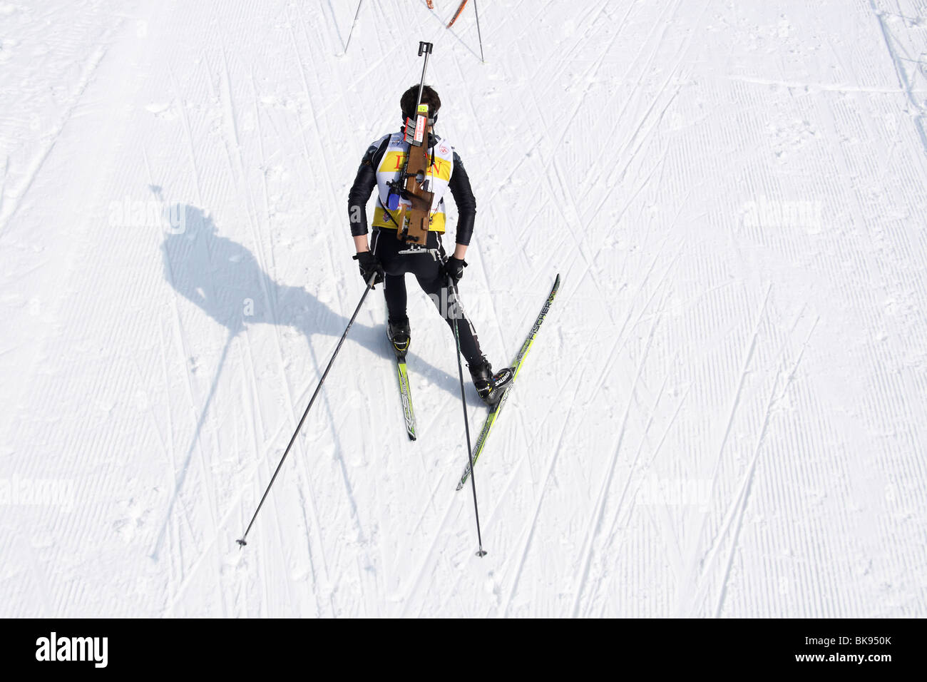 Biathlon competition, Jakuszyce, Poland. - Stock Image