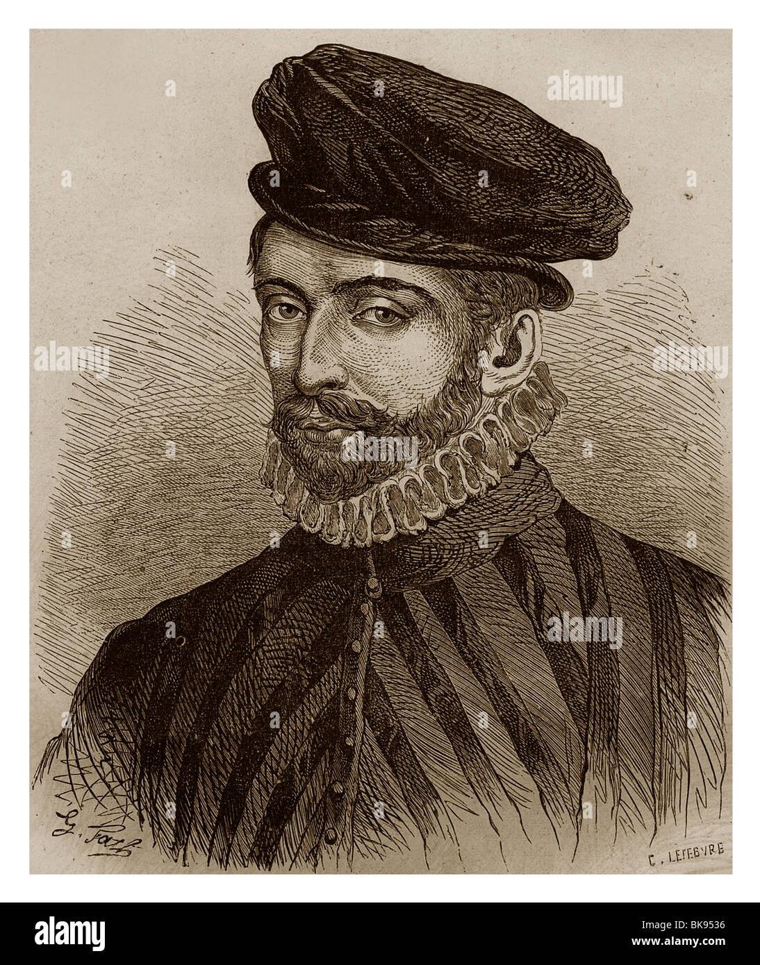 Nicolas IV of Neufville, Lord of Villeroy (1542-1617): Important secretary of State during the reign of Henry IV - Stock Image