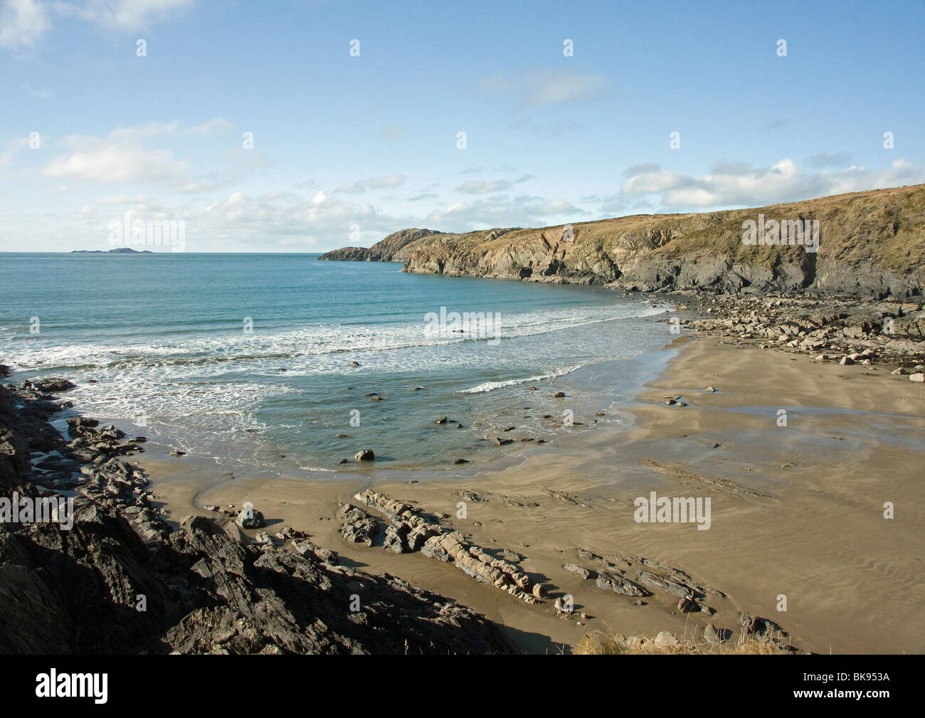 Whitesands Bay in Pembrokeshire West Wales - Stock Image
