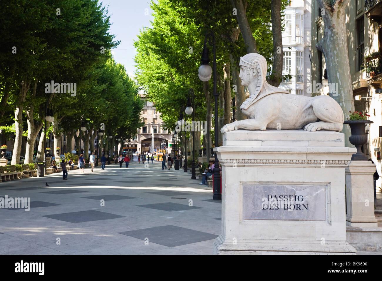 Passeig des Born, Palma de Mallorca, Majorca, Spain, Europe - Stock Image